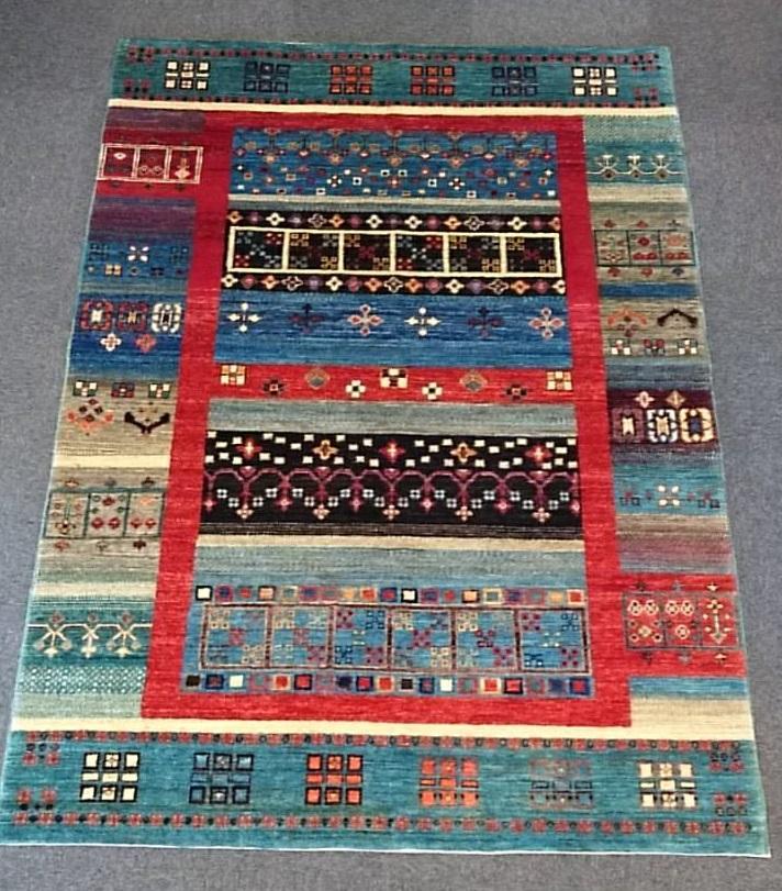 AG1559 アフガニスタンズライニ 手織り 154×217