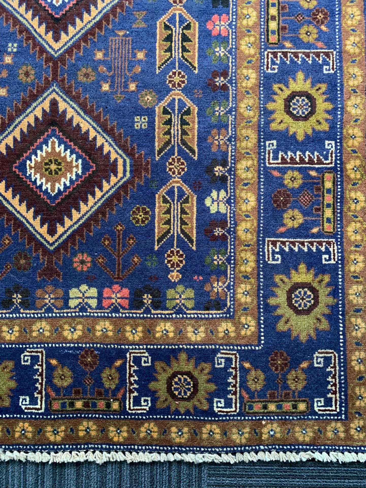 AG1529 アフガニスタン 手織り 111×195