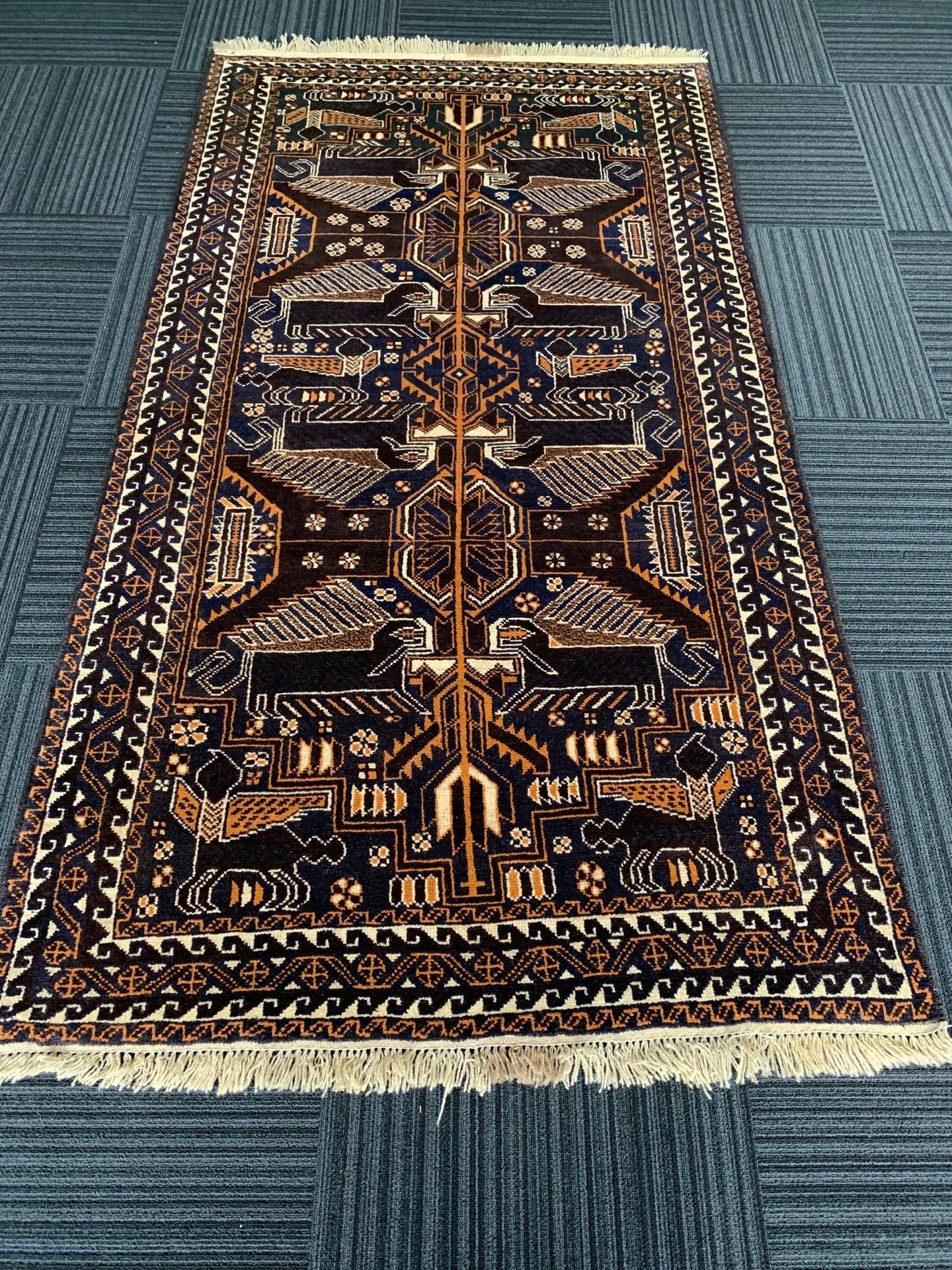AG1540 アフガニスタン 手織り 115×206