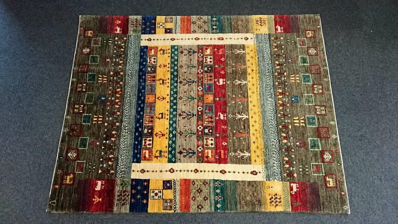 AG1561 アフガニスタンズライニ 手織り 156×199