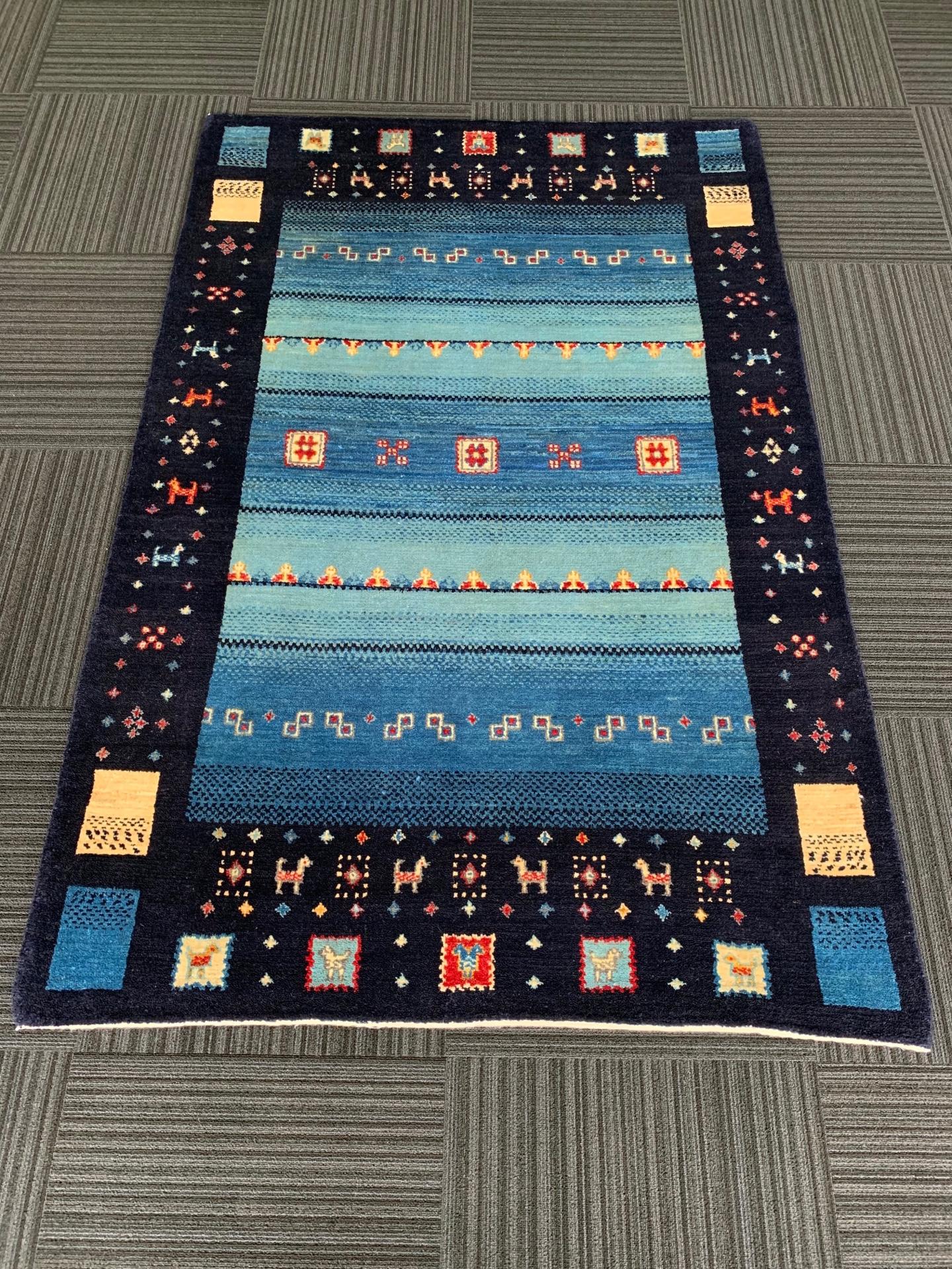 AG1565 アフガニスタンズライニ 手織り 124×188