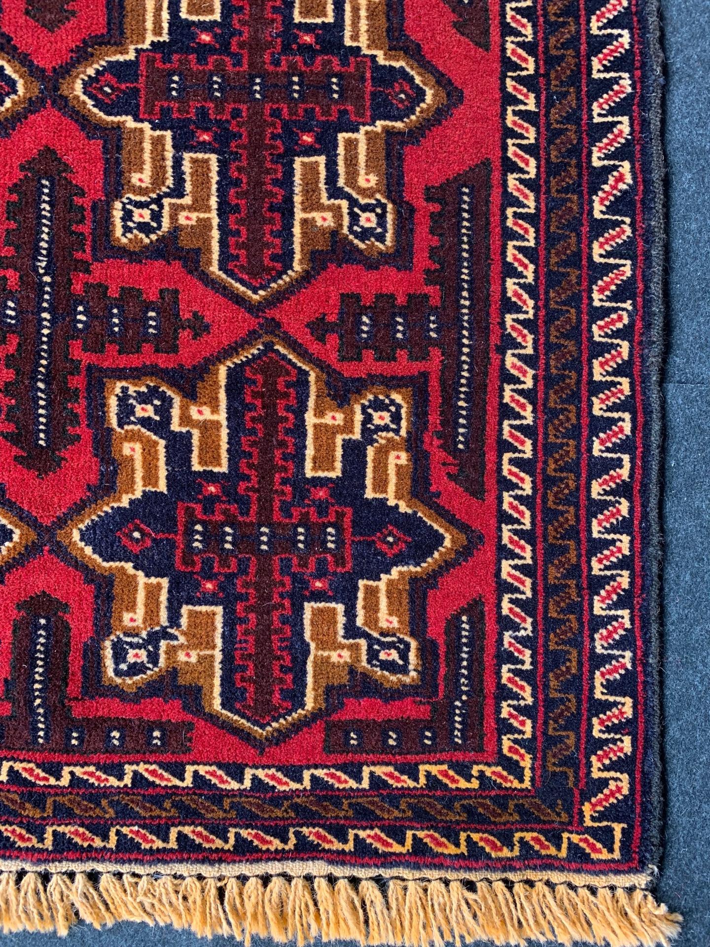 BC0714 アフガニスタン 手織り 84×140
