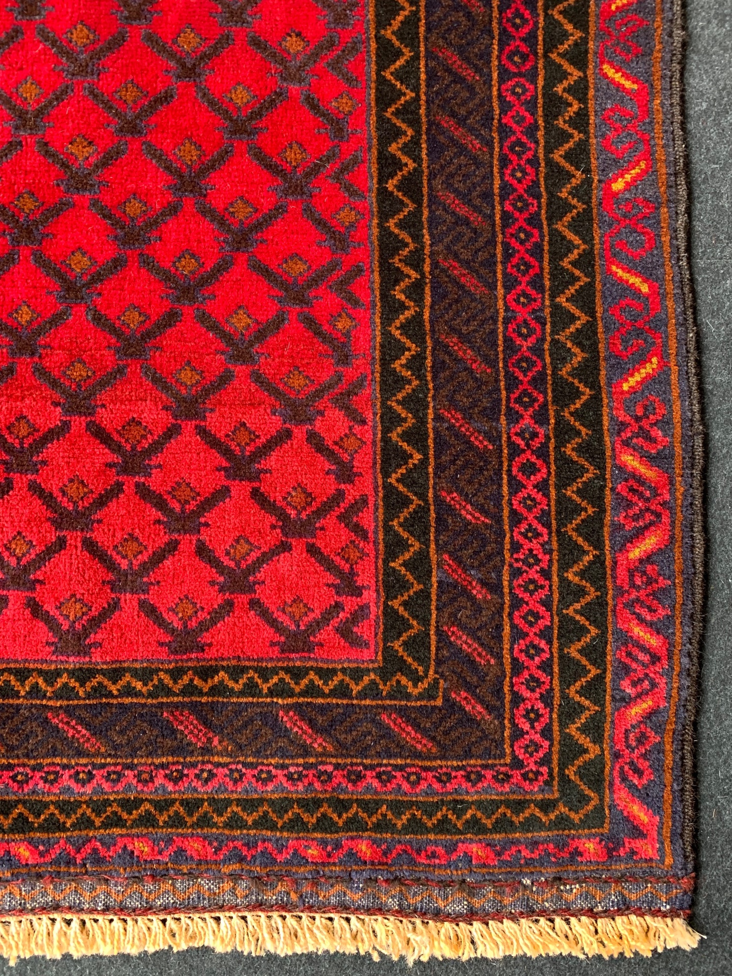 BC0774 アフガニスタン 手織り 86×142