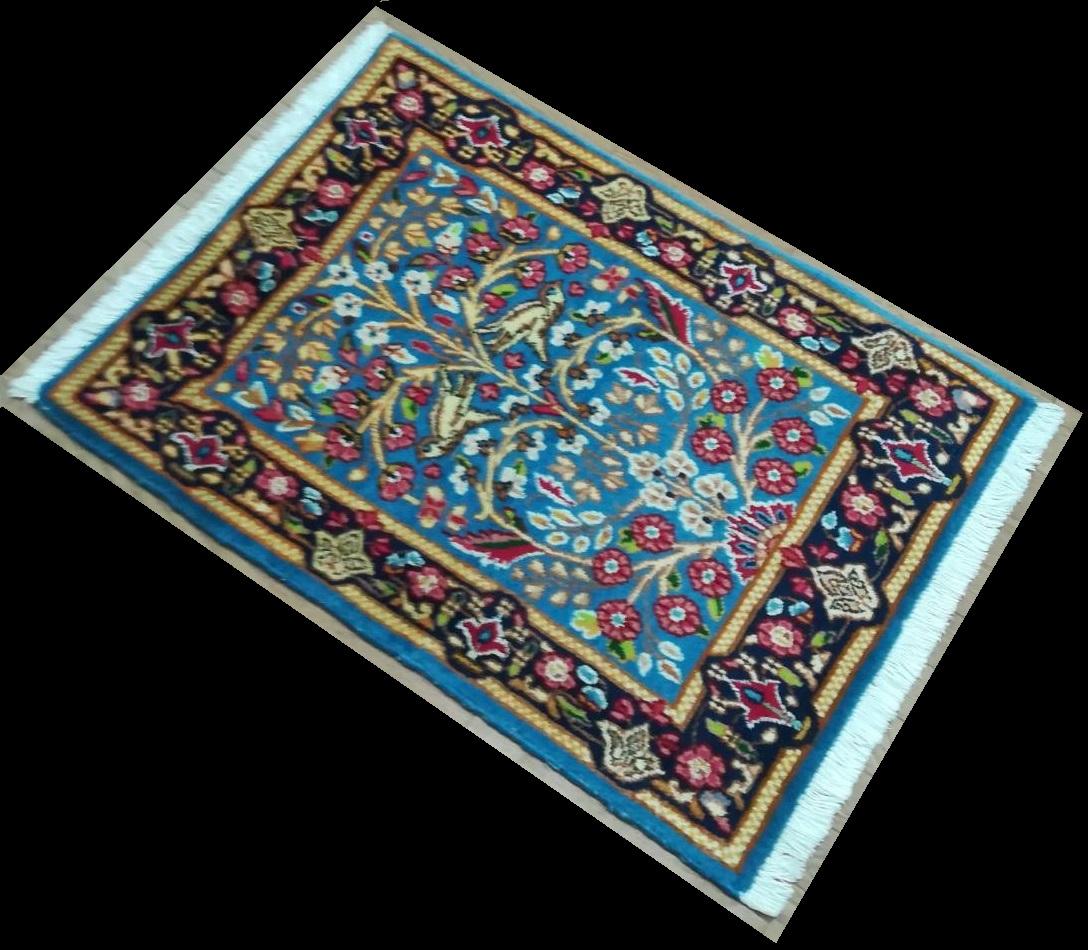BK0209 ケルマン 手織り ペルシャ絨毯 60×87