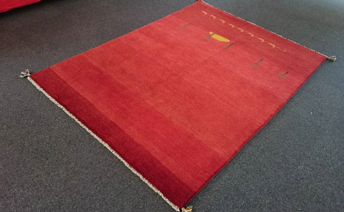 GA7866 ギャベ 手織り ペルシャ絨毯 150×198