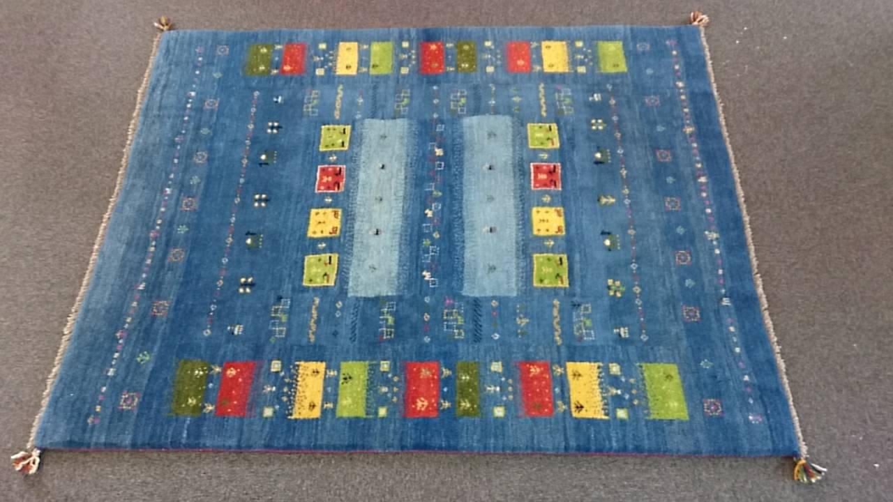 GA7875 ギャッベ 手織りペルシャ絨毯 151×198