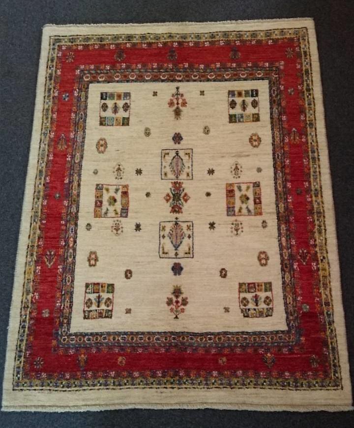 GA8454 ギャッベ 手織り アートリーズ 149×193