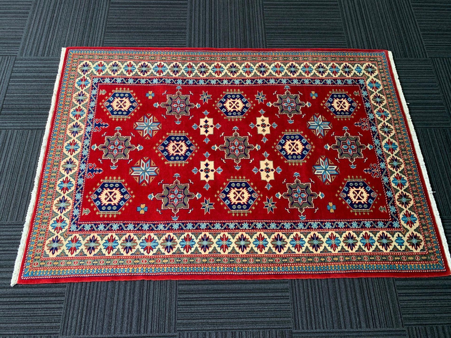 JA8777 パキスタン 手織り 135×187