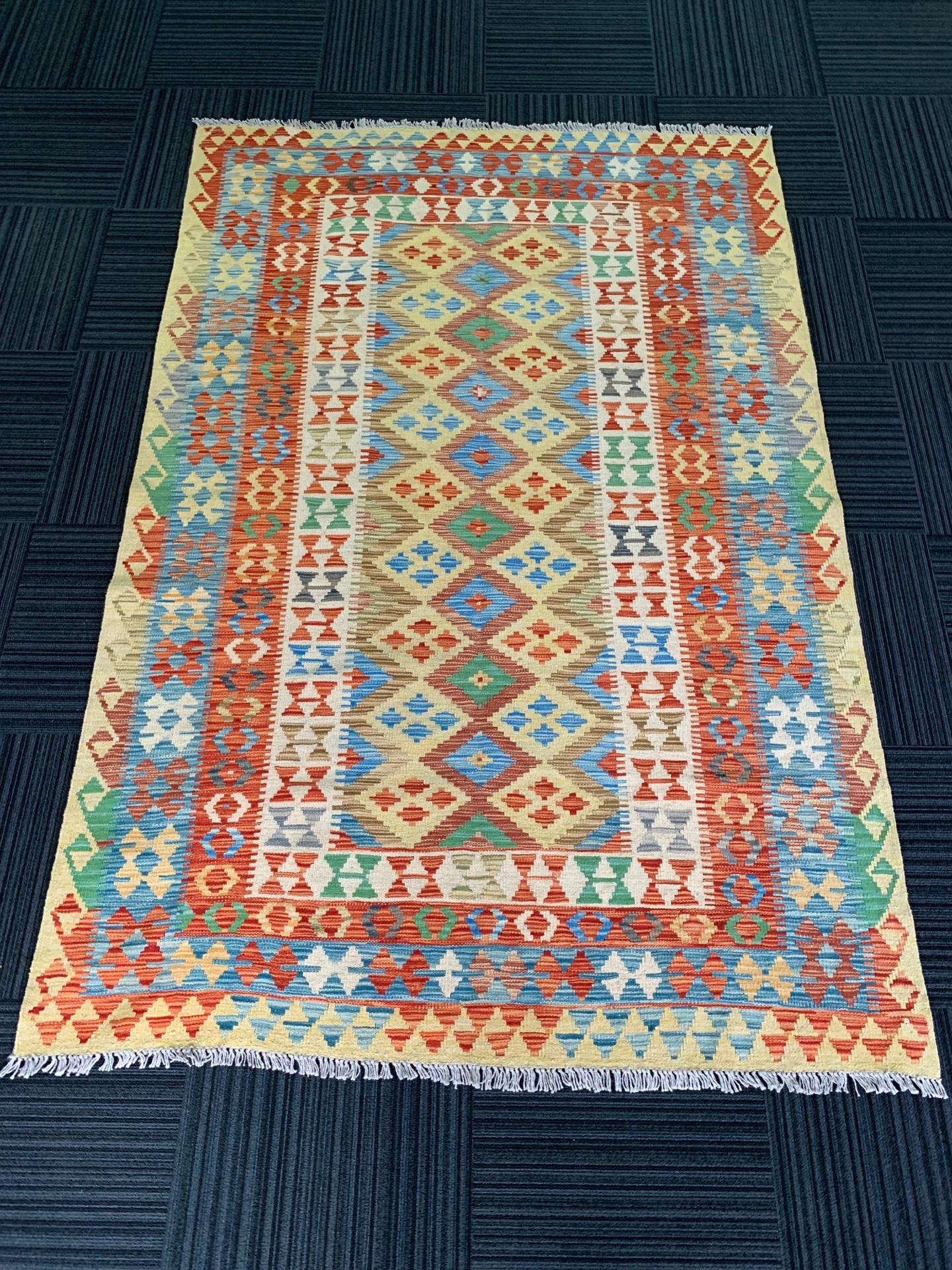 KI0318 アフガンキリム 手織り 160×244