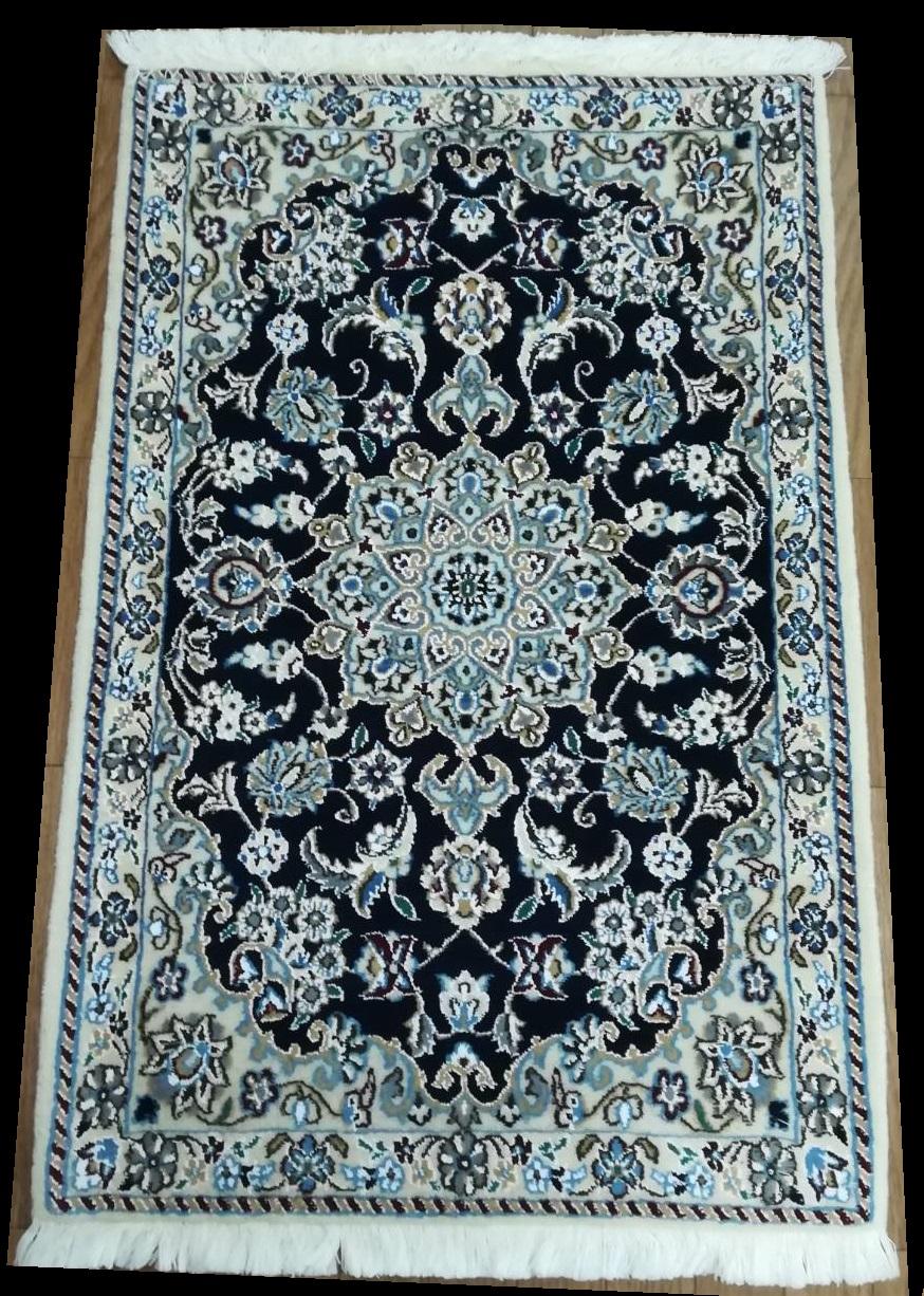 NS4112 ナイン 手織り ペルシャ絨毯 59×90