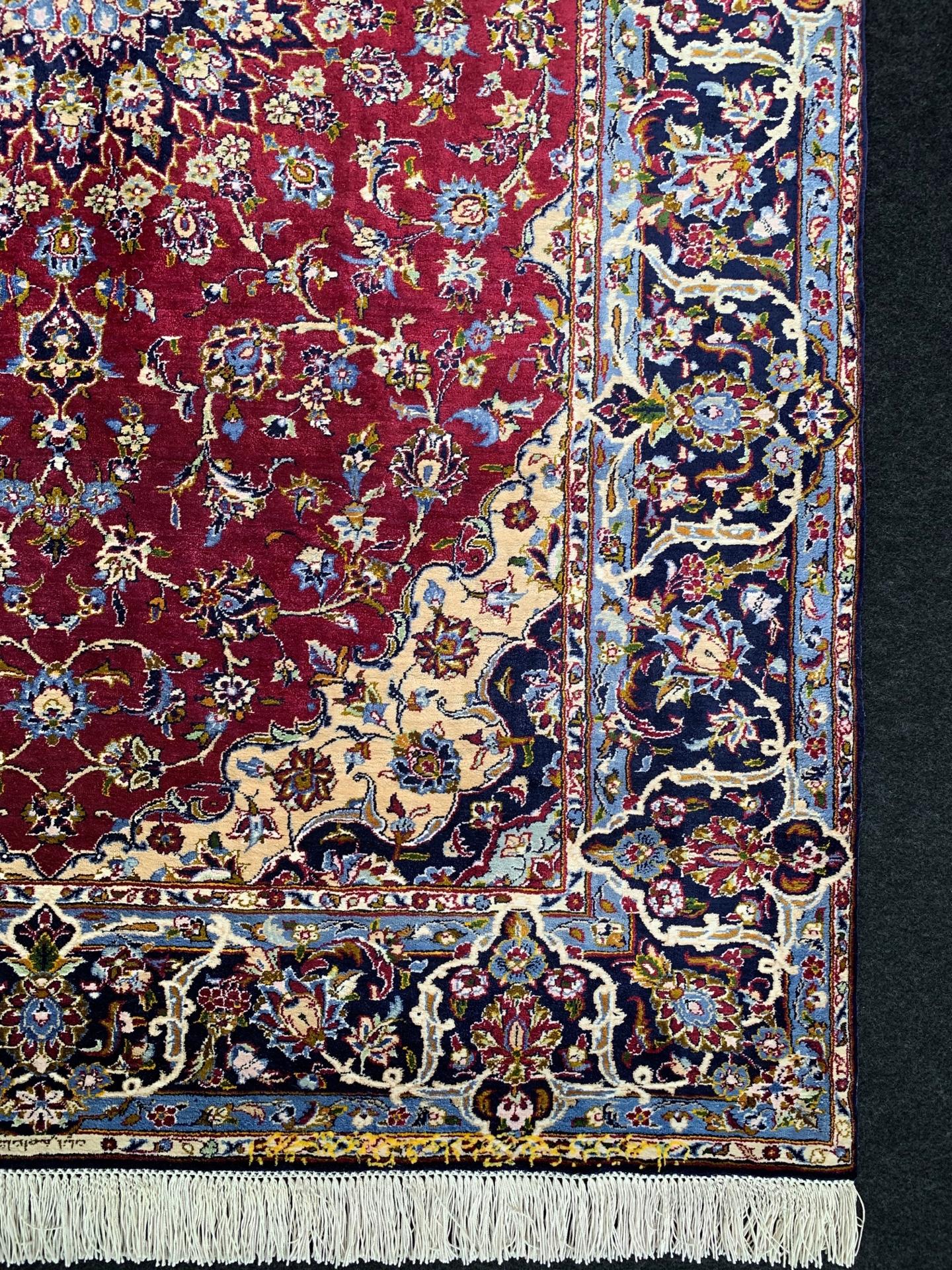 AK0227 カシャン 手織り ペルシャ絨毯 104×154