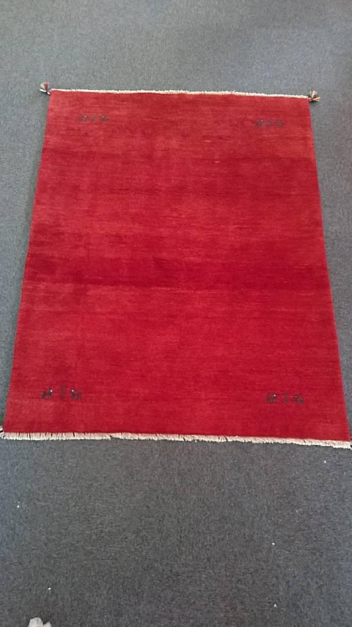 GA7858 ギャベ 手織り ペルシャ絨毯 154×196