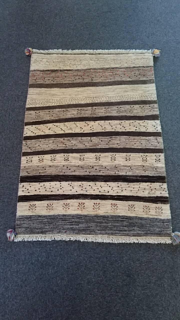 GR0005 リーズギャベ 手織り ペルシャ絨毯 89×129