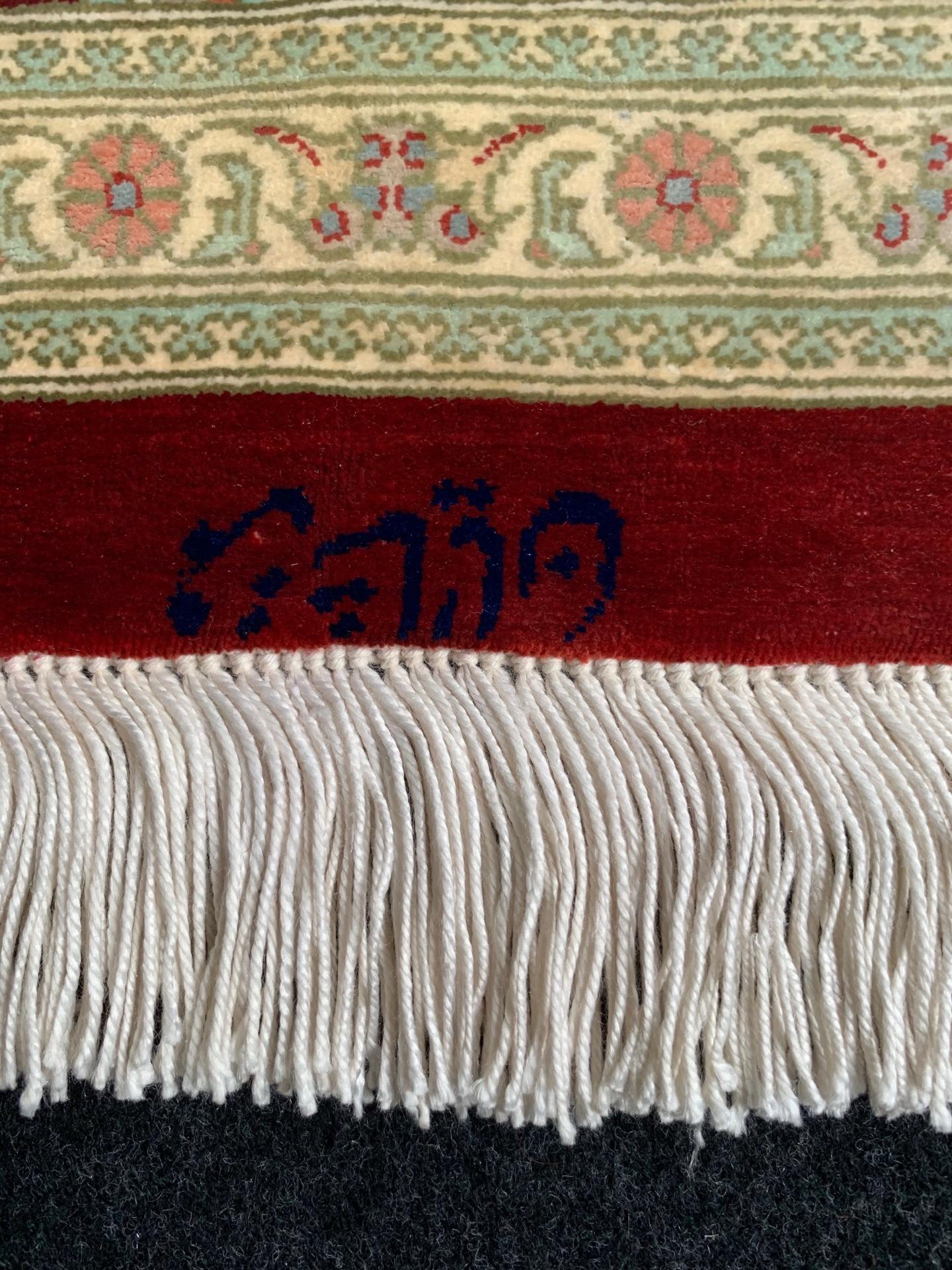 QM8118 クム 手織り ペルシャ絨毯 100×145