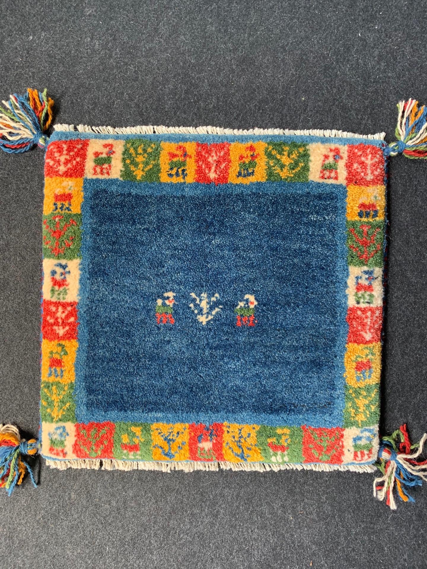GA8515 ギャベ 手織り 40×40 ウール