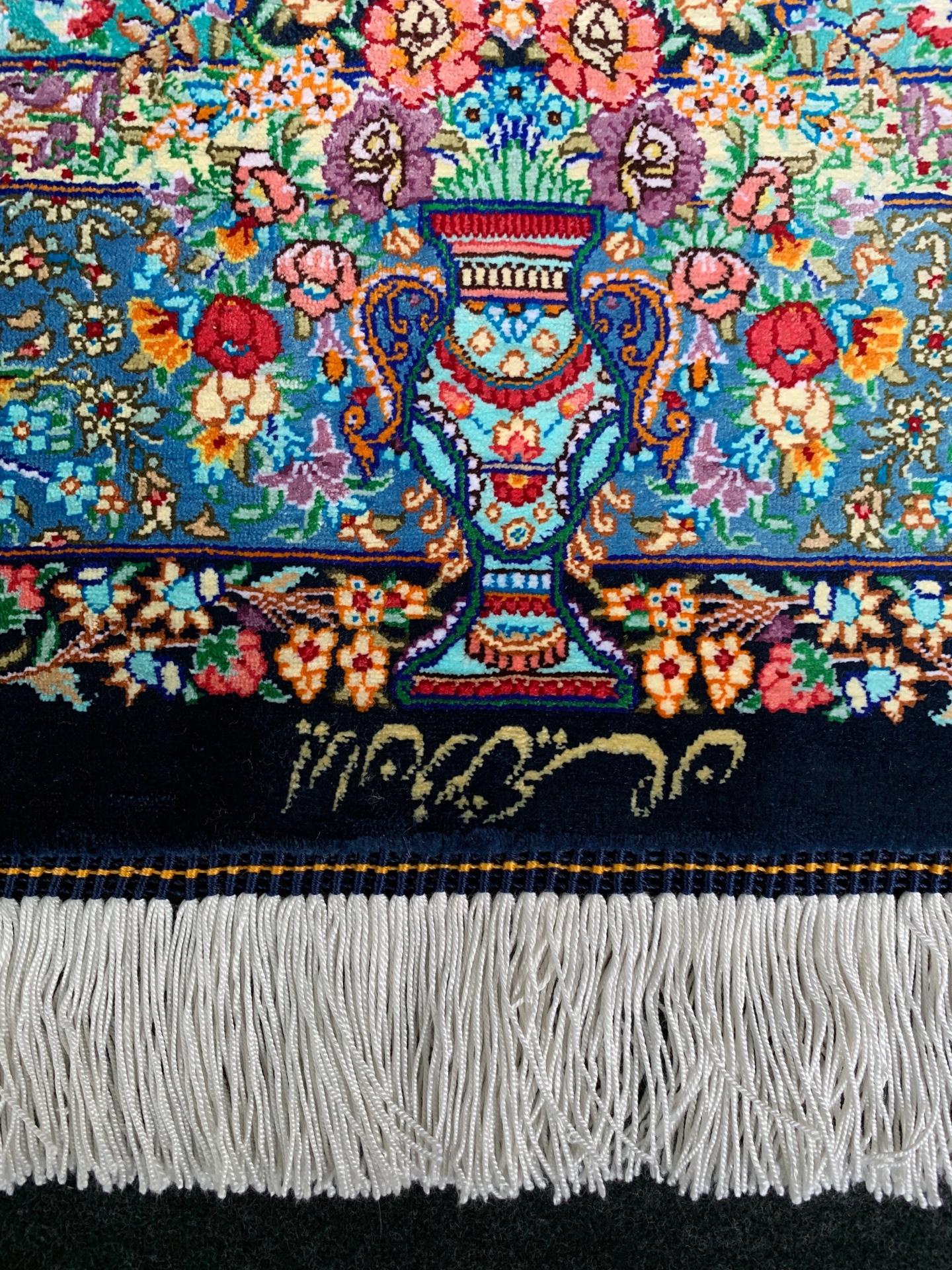 QM11115 クム 手織り 80×115 シルク