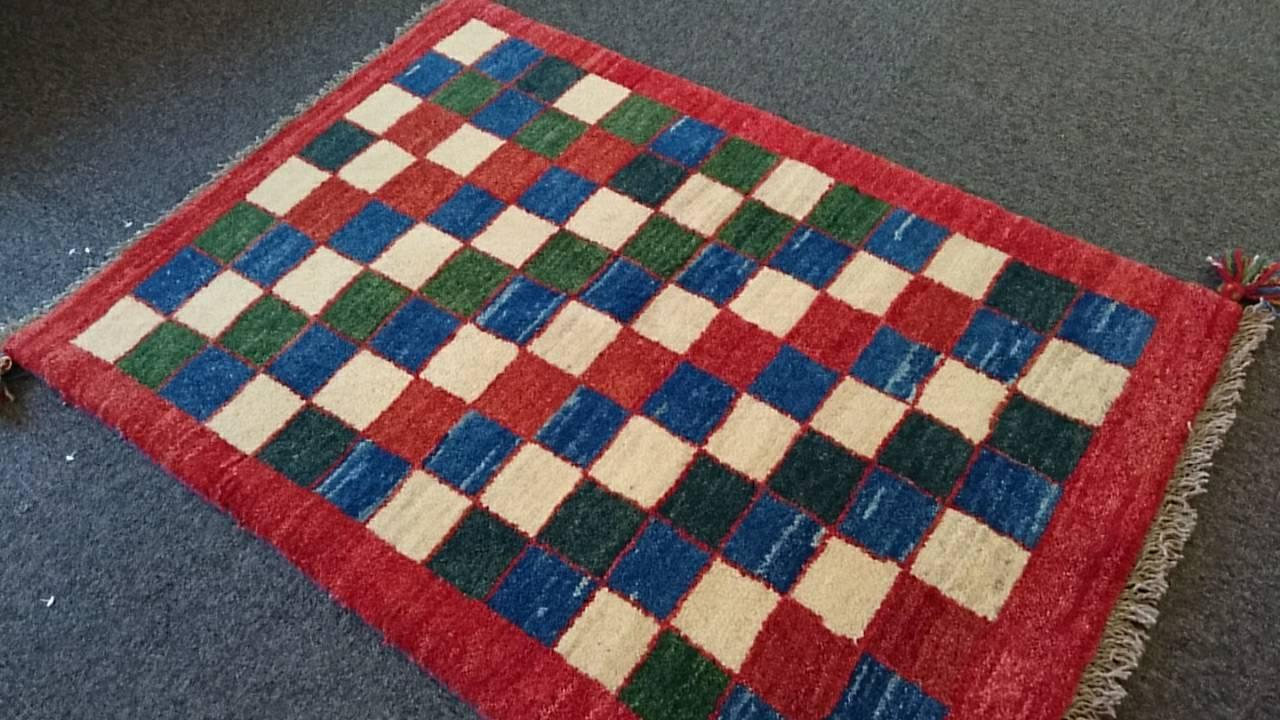 GA6369 ペルシャ絨毯 ギャベ 86×122