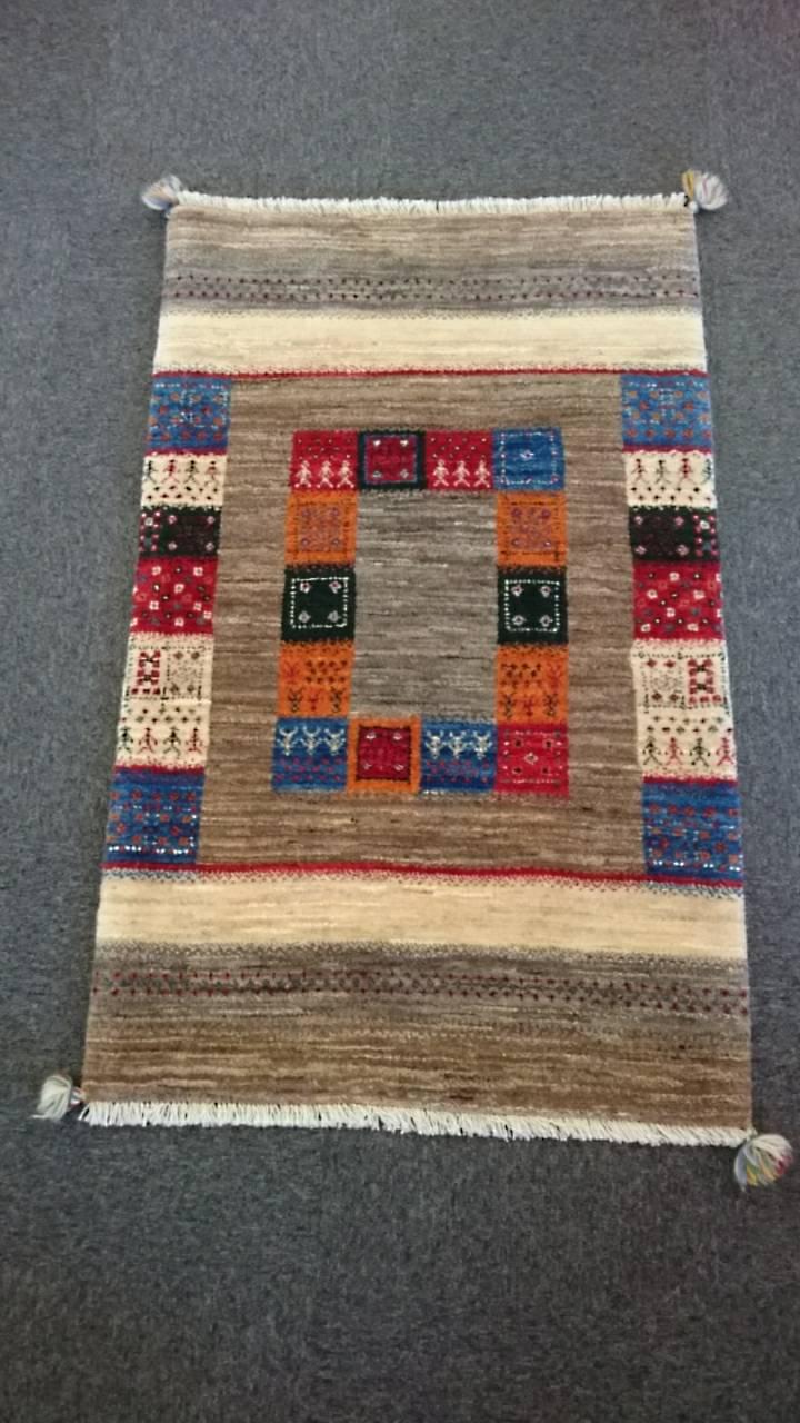 GR0108 ペルシャ絨毯 リーズギャベ 80×130